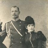 01 Parintii artistului, Laurentiu II baron Lowendal si Liubov Gavrisova baroneasa Lowendal, la zece luni dupa nasterea primului lor fiu, George Sankt-Petersburg, 1898