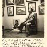 42 George Lowendal la expozitia din Cladirea Parlamentului 24 iunie-10 iulie 1945 Bucuresti