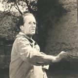 45 Pictorul la Manastirea Voronet (fotografie de regizorul Ion Bostan), 1963