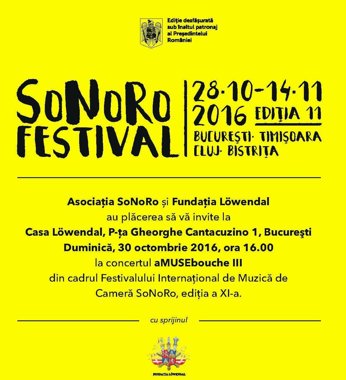 Concertul aMUSEbouche III: Sonoro Festival@Fundația Löwendal