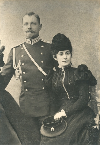 01-parintii-artistului-laurentiu-ii-baron-lowendal-si-liubov-gavrisova-baroneasa-lowendal-la-zece-luni-dupa-nasterea-primului-lor-fiu-george-sankt-petersburg-1898