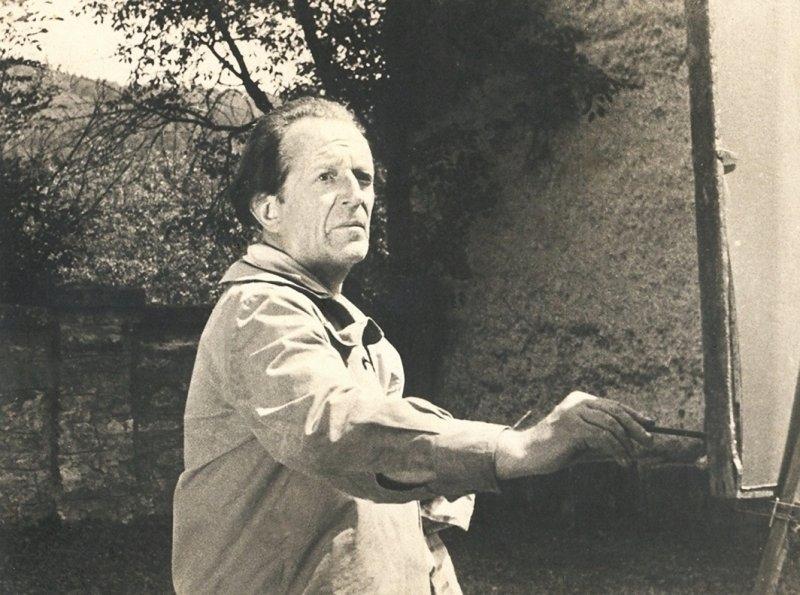 45-pictorul-la-manastirea-voronet-fotografie-de-regizorul-ion-bostan-1963